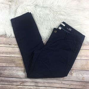 J. Crew Frankie Fit Blue Chino pants size 10